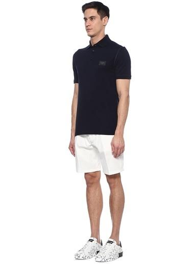 Dolce&Gabbana Dolce&Gabbana  Polo Yaka Logo Patchli T-shirt 101479092 Lacivert